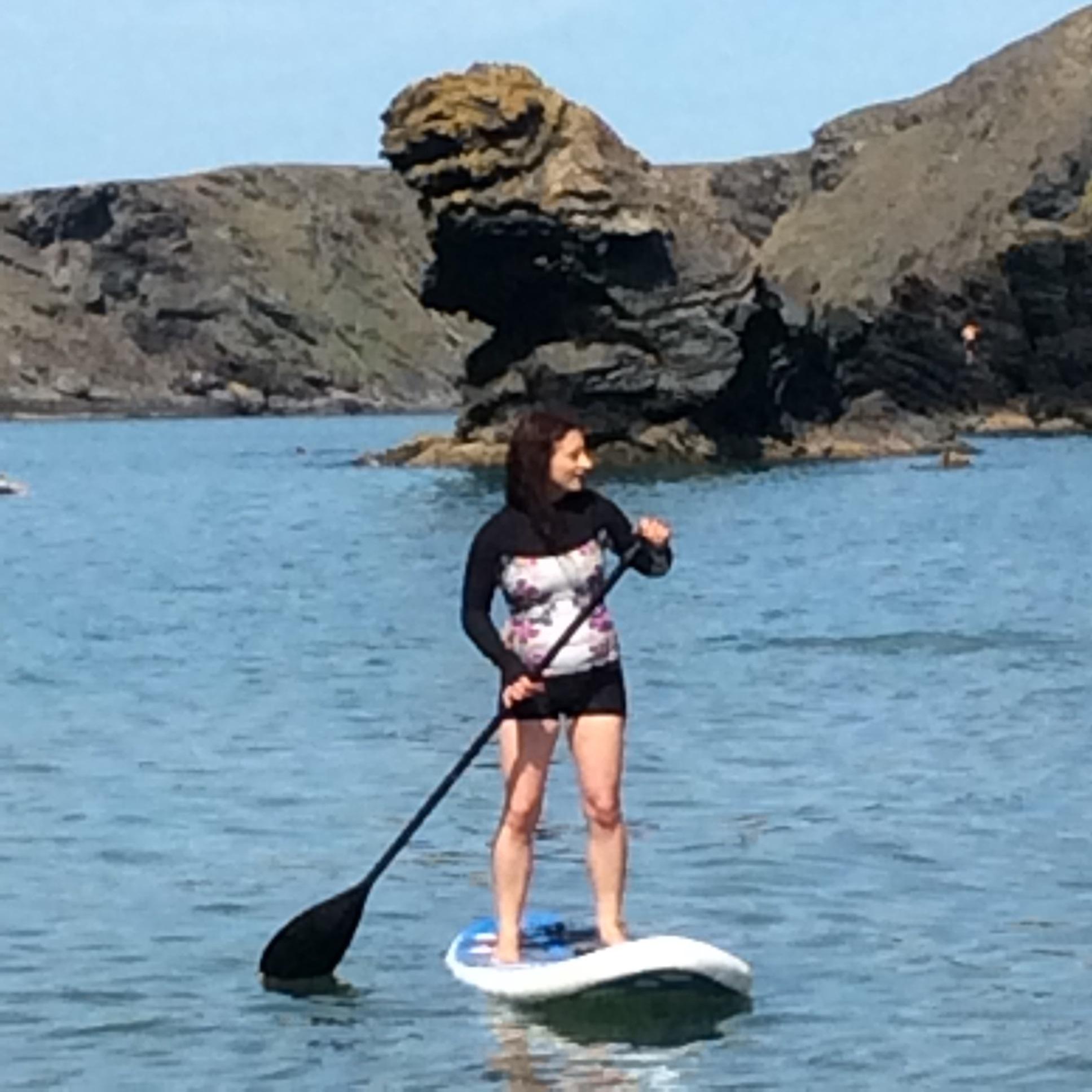 Paddleboarding in Llangrannog