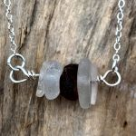 seaglass stack necklace