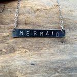 mermaid bar necklace
